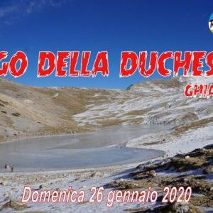 Il lago della Duchessa ghiacciato